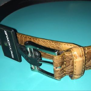 Stacy Adams Belt NWT Tan Genuine Imported Leather